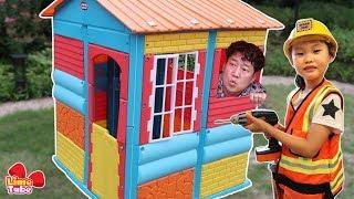 라임의 거대한 칼라 집 만들기 공구 놀이 COLORFUL Kids PlayHouse Toy