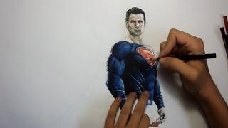 Drawing Superman:  Batman v Superman Dawn of Justice