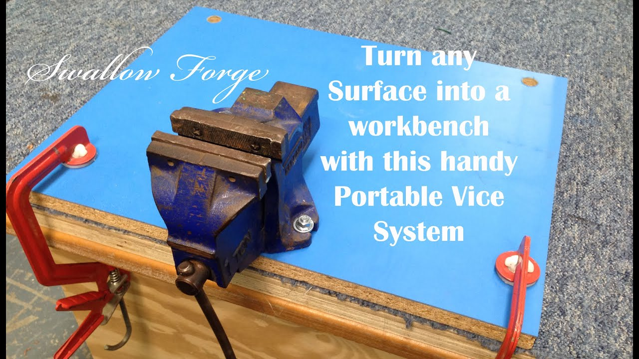 How To Install A Bench Vice Part - 23: Build A Versatile Removable Vice Mount : Swallow Forge No. 21 - YouTube