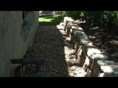 River Rock Helps Drainage System