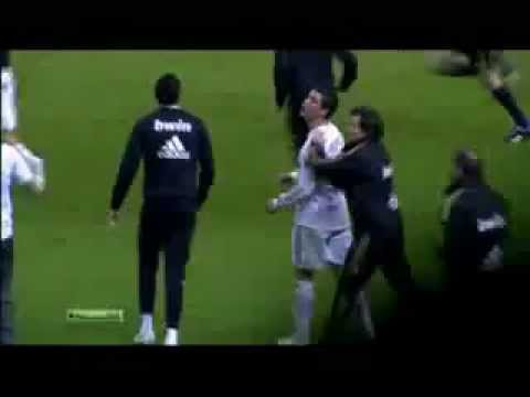Cristiano Ronaldo  Swears at a Athletic Bilbao player Javi Martinez 02/05/12