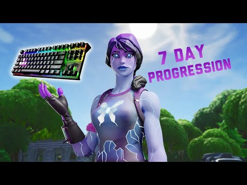 1 Week Progression From Ps4 To Pc (keyboard & Mouse) Fortnite Battle Royale