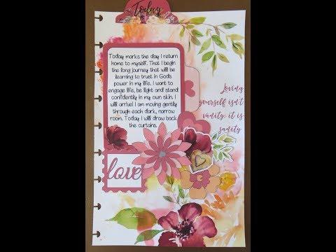 Technique Thursday #76 - Watercolor Baggie Bible Journal Page