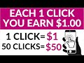 Get Paid To Click On Websites ($1.00 Per Click) - FREE Make Money Online (Worldwide)
