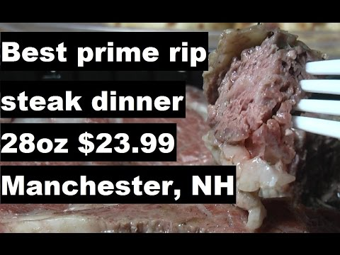 """Best prime rip steak dinner with relaxing music, """"The Yard"""" Manchester #foodporn #primerip"""