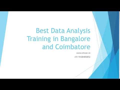 Best Data Analysis Training in Bangalore and Coimbatore-etcoe.in