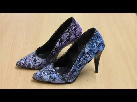The Speed-up Creations (2) - Blue and Purple Patterned High Heels   AllAroundArtworkYG