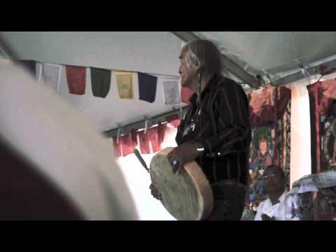 Steven Small Salmon & Tulku Sang-ngag Rinpoche drum, sing, and share