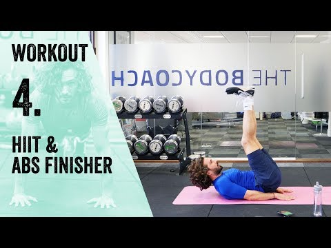 Workout 4 | HIIT & Abs | The Body Coach Beginner Workout Series