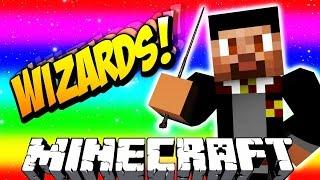 Minecraft WIZARDS #2 with Vikkstar & Lachlan (Minecraft Magic PVP)