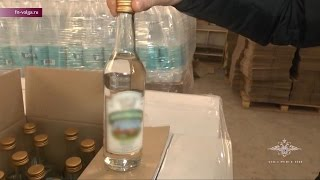 В Балакове обнаружен цех по производству поддельного алкоголя