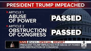House debates two articles of impeachment against President Trump | ABC News