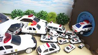 Many Size of Police Car Toy Collection Big Spo Spo Cube Box DIY