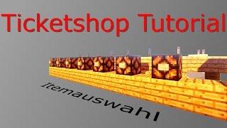 (TICKET) SHOP - Tutorial - PC, Pocket & Konsole + Redstone erklärt