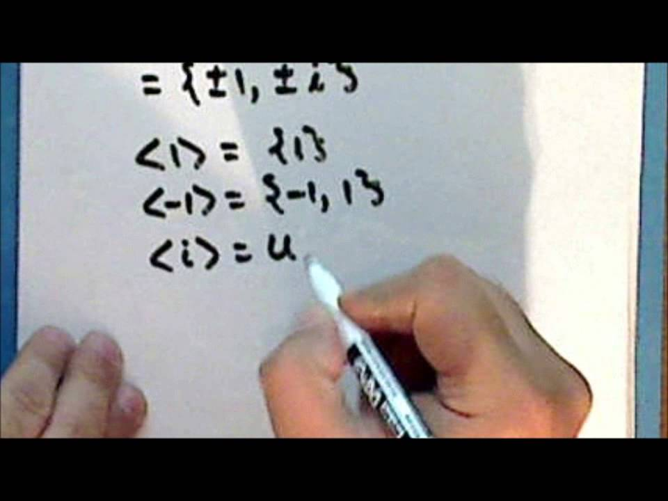 old series] Abstract Algebra Lecture 18 Part 2 - YouTube