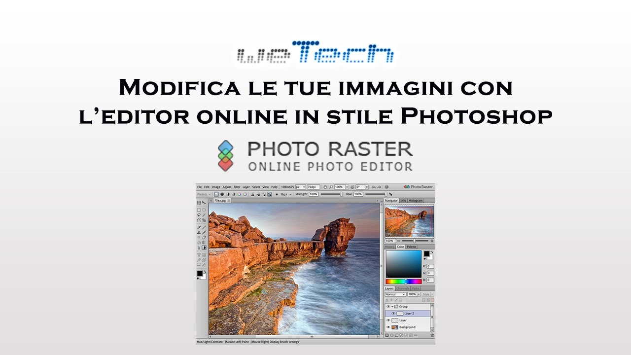 Modifica Le Tue Immagini Con Photo Raster Leditor Online