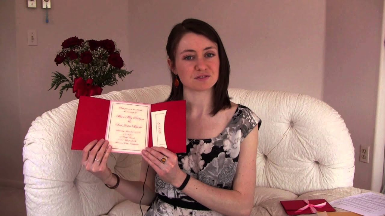 Print Your Own Wedding Invitations - YouTube