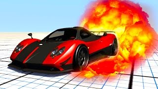 PAGANI ZONDA DESTRUCTION!! (BeamNG Drive Stress Test!)