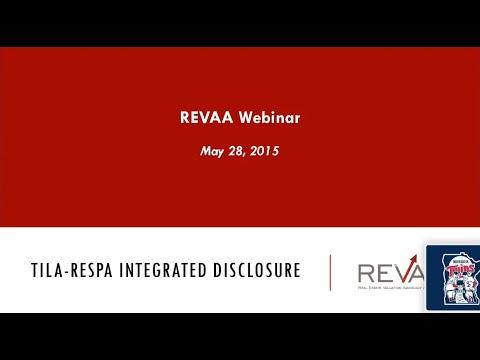 TILA-RESPA Integrated Disclosure Rules 1