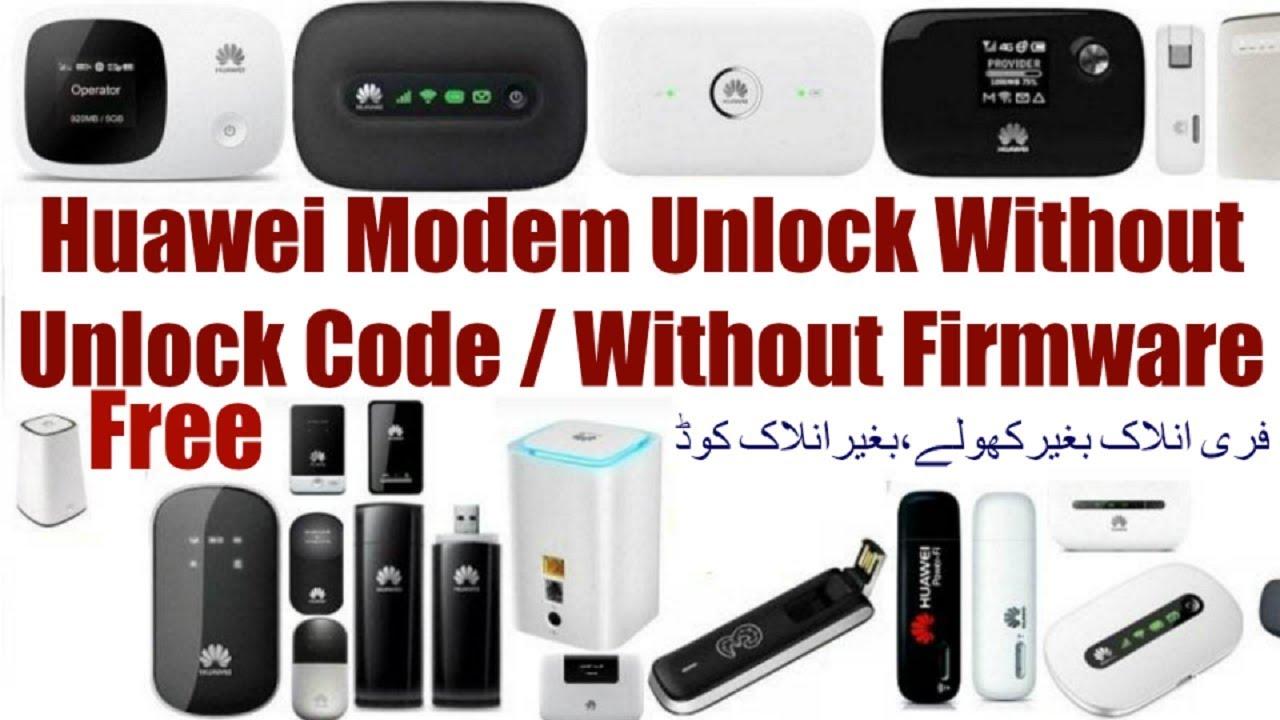 Unlock Huawei Modem Without Unlock Code,Firmware