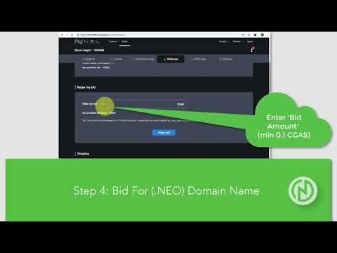 How To Start NNS (.NEO) Domain Name Auction!
