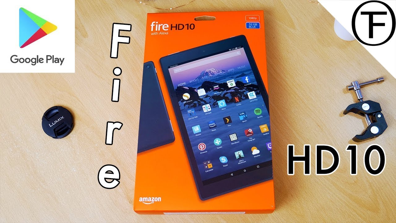 How To Install Google Play on Amazon Fire HD 10 Tablet  😘