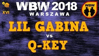 bitwa Q-KEY vs LIL GABINA # WBW 2018 Warszawa (1/8) # freestyle battle
