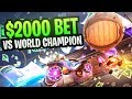 $2,000 1v1 Vs. WORLD CHAMP SQUISHYMUFFINZ - CIZZORZ ROCKET LEAGUE WAGER