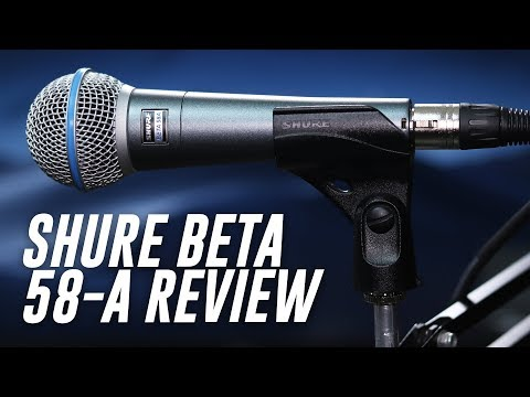 Shure BETA 58A Supercardioid Dynamic Vocal Microphone,Silver