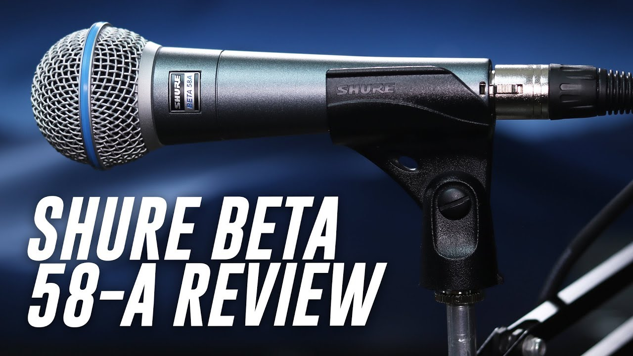 shure beta 58a dynamic mic review test youtube. Black Bedroom Furniture Sets. Home Design Ideas