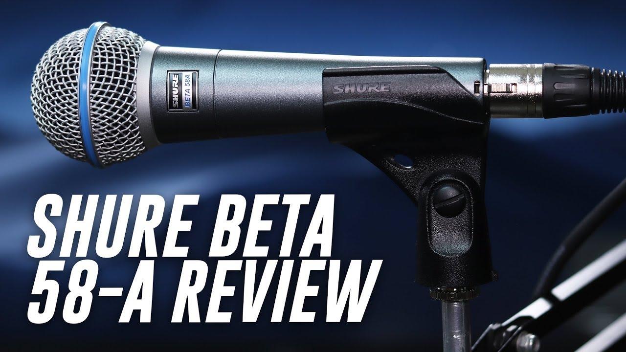 Shure Beta 58A Dynamic Mic Review Test
