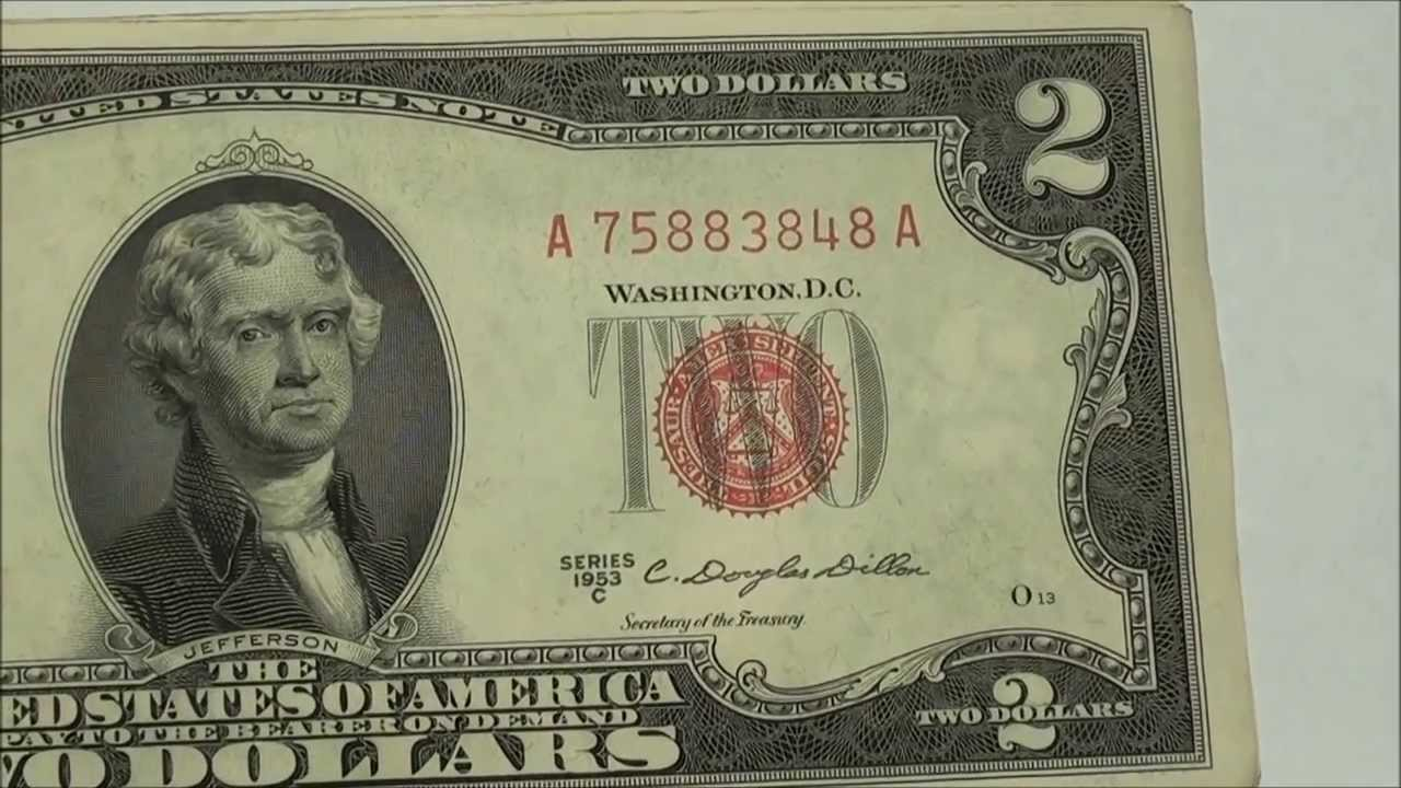 1953c Red Seal 2 U S Note Collection With Consecutive
