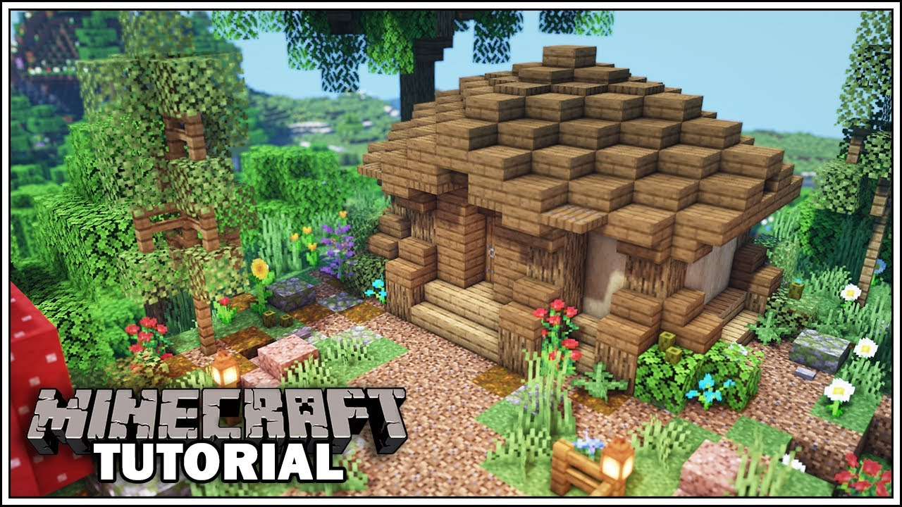 Minecraft Tutorial: Small Starter Storage Building [How To Build]