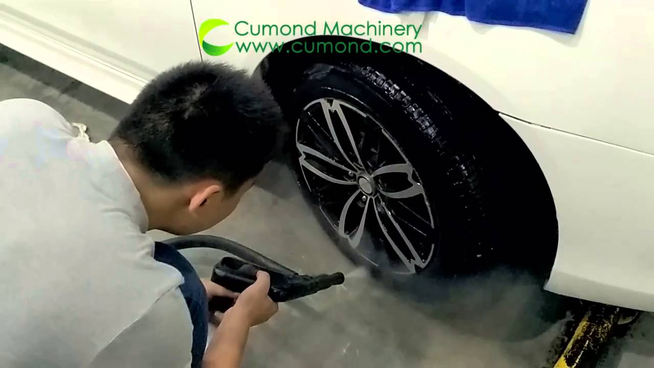Car Washing Store Is Using Cumond Steam Vacuum Cleaning Machine Washing Car Interior And