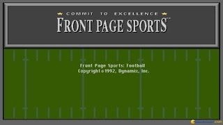 Front Page Sports: Football gameplay (PC Game, 1992)