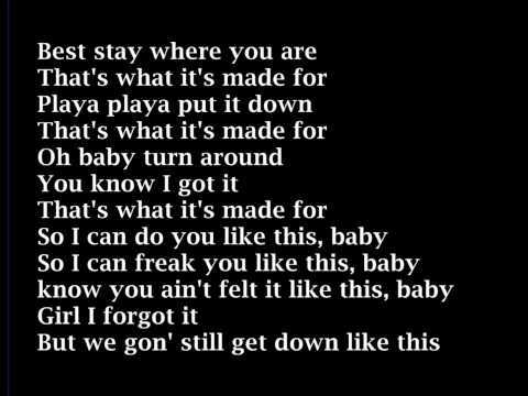 Usher - Thats What Its Made For  LYRICS