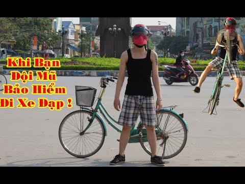 Khi Bạn Đội Mũ Bảo Hiểm Đi Xe Đạp - When you wear a helmet cycling Prank -