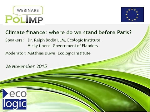 Climate finance: where do we stand before Paris?