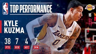Rookie Kyle Kuzma Scores a CAREER-HIGH 38 Pts in Win vs. Rockets | December 20, 2017
