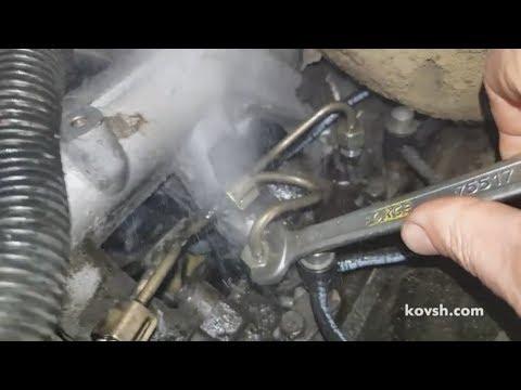 Признак заклинившей в верхнем положении иглы распылителя на Ford Transit 2.5DI 4DA