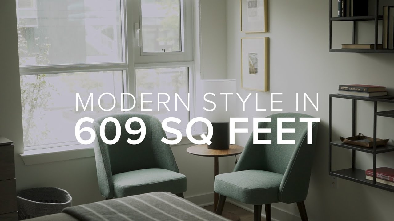 Modern Style In 609 Square Feet Youtube