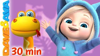 🏝 Down in the Jungle and More Nursery Rhymes and Kids Songs | Dave and Ava 🏝