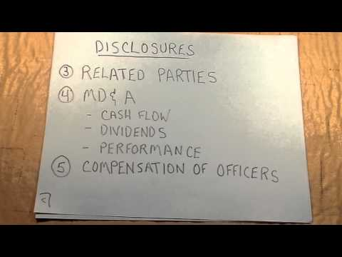 Detailed Video about Balance Sheet and Financial Statement Disclosures