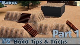 The Sims 3 - Building Tips And Tricks #2 - Stairs (part 1)