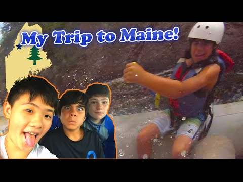 RIDICULOUS RAFTING | MY TRIP TO MAINE! w/ Dylan and Willie
