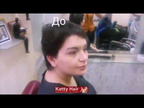Наращивание волос на короткие волосы до и после