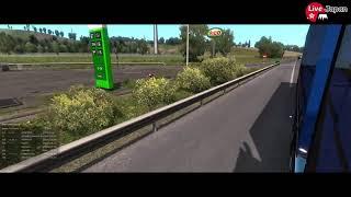 【EURO TRUCK SIMULATOR 2】TruckersMP  愛猫に邪魔されて途中終了