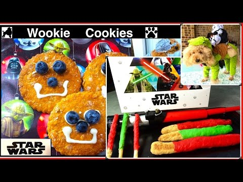 STAR WARS DOG TREAT WOOKIE COOKIES LIGHT SABRE R2-D2 DARTH VADER REMIX by Cooking For Dogs