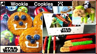 STAR WARS DOG SERIES WOOKIE COOKIES LIGHT SABRE R2-D2 DARTH VADER DIY by Cooking For Dogs