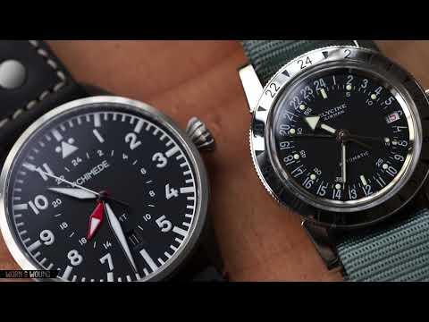 #WhichWatchWednesday: Archimede Pilot 42 GMT VS Glycine Airman No. 1